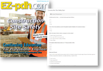 EZ-pdh.com course cover of a professional engineers